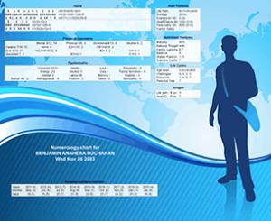 numerology birth chart Style 5
